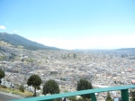 The city of Quito from atop El Panecillo